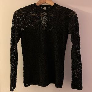 Abercrombie & Fitch Black Lace Top